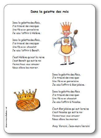 Chansons comptines et po sies sur la galette des rois - Decor galette des rois ...