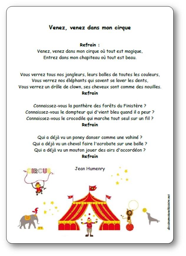 Venez dans mon cirque de Jean Humenry