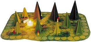Le jeu d'ombres en forêt
