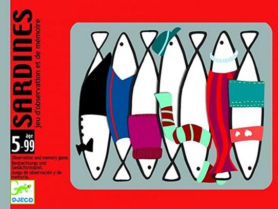 Sardines, Jeu d'observation et de mémoire de Djeco