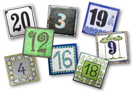 Mémory des nombres des plaques de numéros de maison