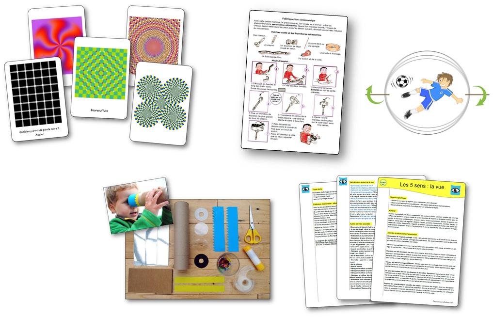 Les 5 sens   la vue en maternelle. Activités et jeux sur la vue 65dcd0eecc24