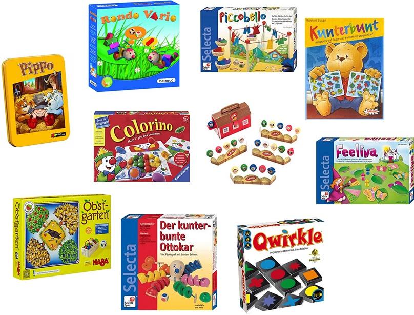 Jeux de société pour apprendre les couleurs