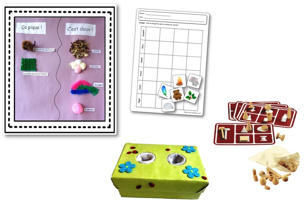 les 5 sens en maternelle le toucher activit s et jeux sur le toucher. Black Bedroom Furniture Sets. Home Design Ideas