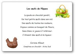 Comptine Les œufs De Pâques Paroles Illustrées De La
