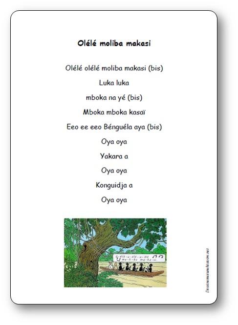 Chanson africaine Olélé Moliba Makasi