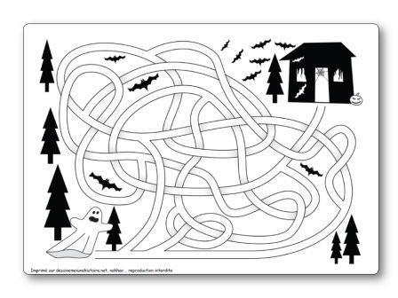 Labyrinthe Halloween fantôme vers maison hantée