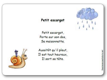 Comptine petit escargot paroles illustr es imprimer - Petit escargot porte sur son dos paroles ...