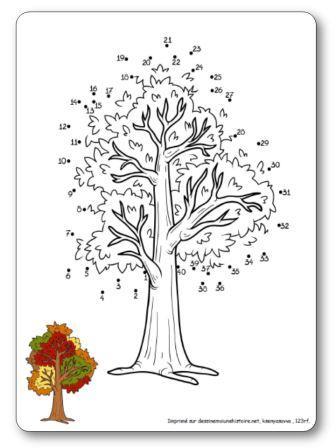 Jeu Relier les points 1 à 40 arbre