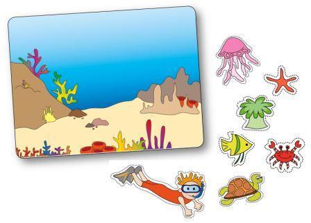 Jeu de topologie sur le thème de la mer et des poissons maternelle, jeu de topologie mer