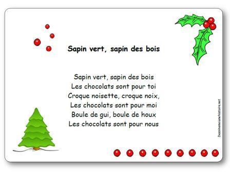 Comptine sapin vert sapin des bois paroles illustr es - Sapin de noel en anglais ...