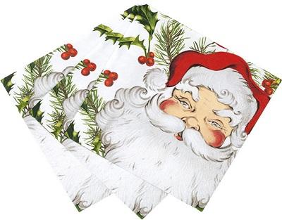 Serviettes en papier père Noël