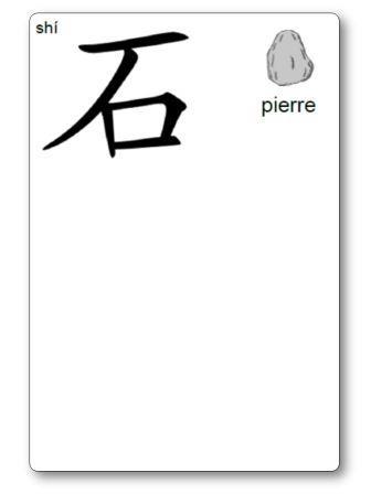 Caractère chinois Pierre Atelier pâte à modeler