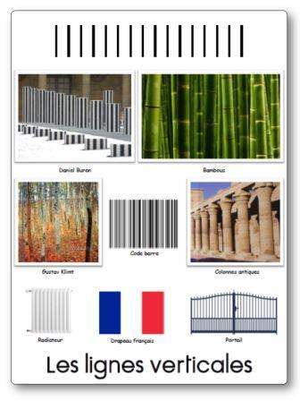 Affichage graphisme Lignes verticales