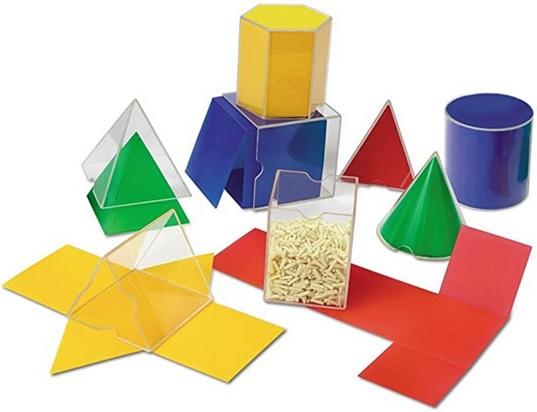 Formes géométriques solides dépliables