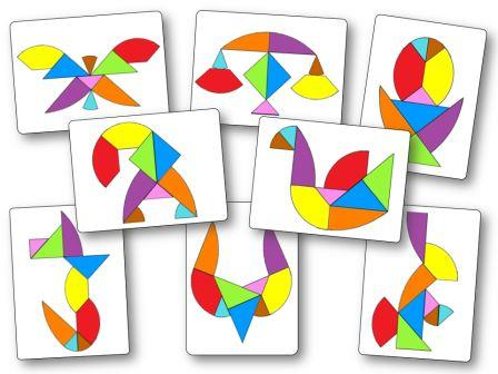 Egg tangram puzzles pattern printable Tangram œuf Modèles à imprimer, tangram oeuf poule