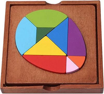 Puzzle tangram oeuf en Bois
