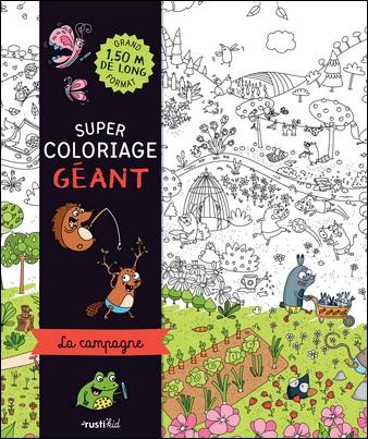 Super coloriage géant, la campagne