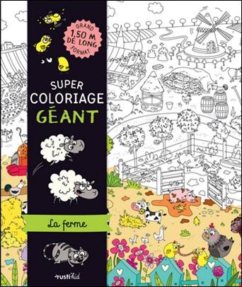 Super coloriage géant, la ferme