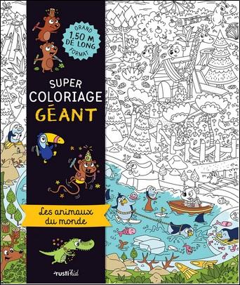 Super coloriage géant, les animaux du monde