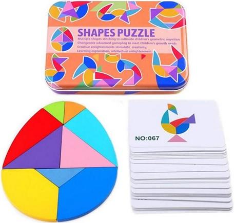 Tangram oeuf Puzzle éducatif en bois, 50 cartes image