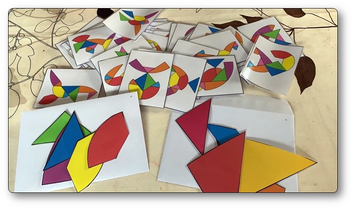 Fiches modèles du tangram œuf