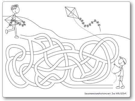 Labyrinthe Enfants et cerfs-volants