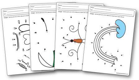 Coloriage Printemps Primaire.Jeux De Points A Relier Sur Le Theme Du Printemps