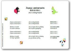 Joyeux Anniversaire En Chinois 祝你生日快乐 Zhu Nǐ Shengrikuaile