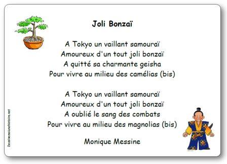 Comptine Joli Bonzaï Monique Messine