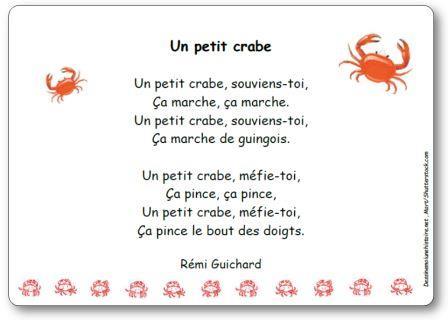 Comptine Un petit crabe Rémi Guichard