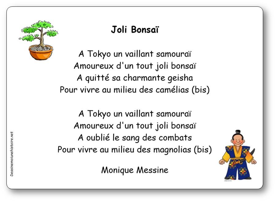 Comptine Joli Bonsaï de Monique Messine