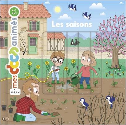 Mes docs animés Les saisons d'Anne Morel et Benjamin Bécue, Milan