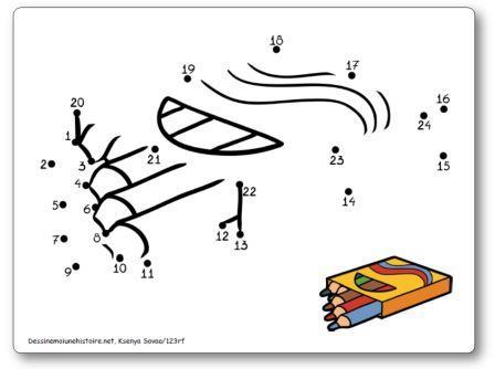 Points à relier Rentrée des classes Crayons de couleur Relier les points 1 à 24