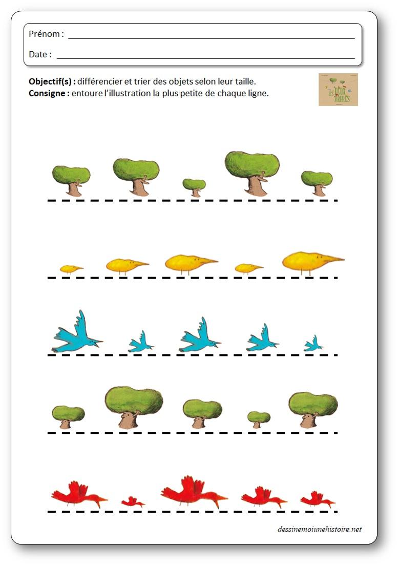 activite grandeur exploitation les deux arbres perception de taille