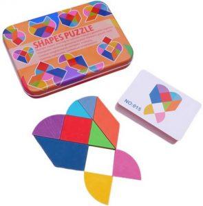 Puzzle Tangram Montessori coeur