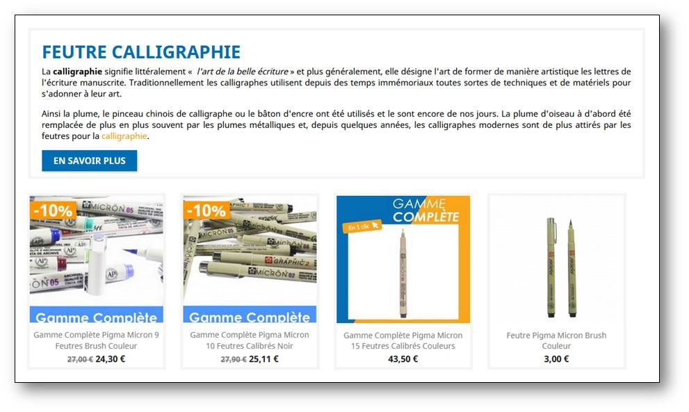Découvrir les feutres de calligraphie sur le site beauxarts.fr