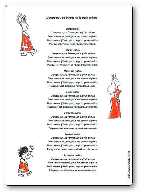 """Chanson """"L'empereur, Sa Femme Et Le Petit Prince"""