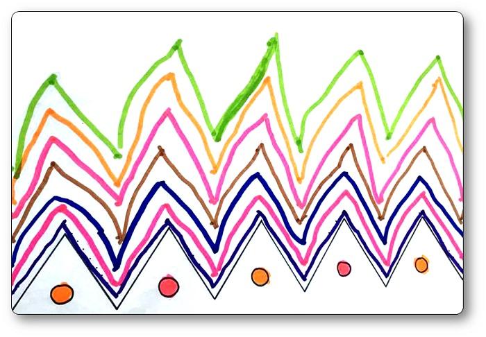 Lignes brisées aux feutres pour le graphisme en MS