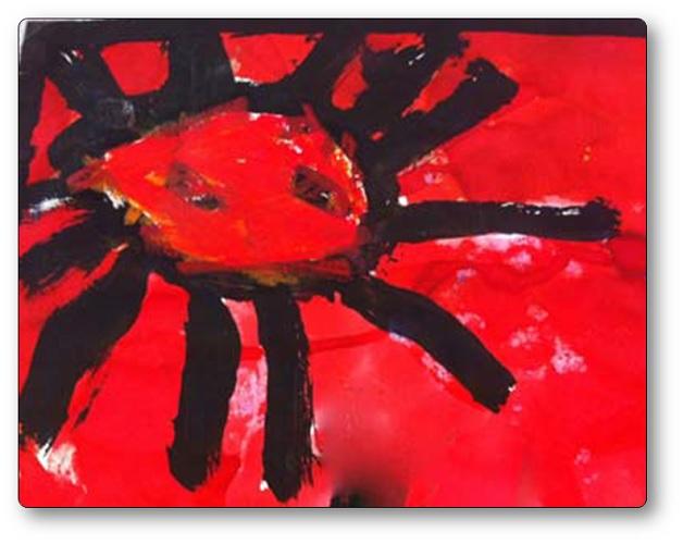 Combinaison de deux motifs graphiques : le soleil