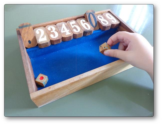 Le jeu Shut The Box, jeu décomposition nombre maternelle
