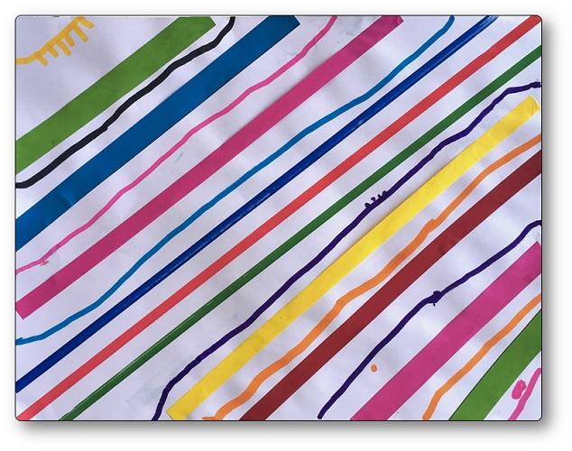 graphisme diagonales, Graphisme lignes obliques Moyenne Section