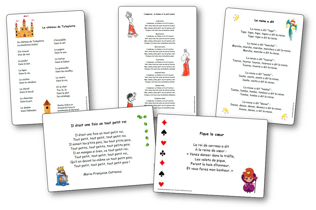 Chansons, comptines et poésies autour des rois, reines, princesses et châteaux-forts