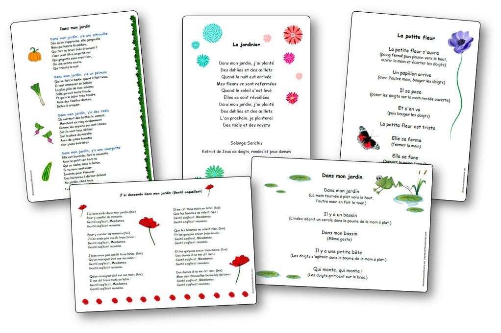 Chansons comptines et po sies autour des fleurs du for Le jardin voyageur maternelle