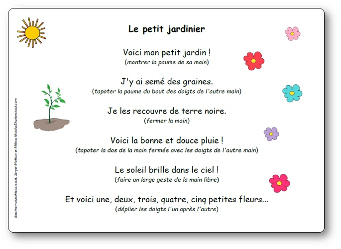 Comptine Le petit jardinier, le petit jardinier comptine