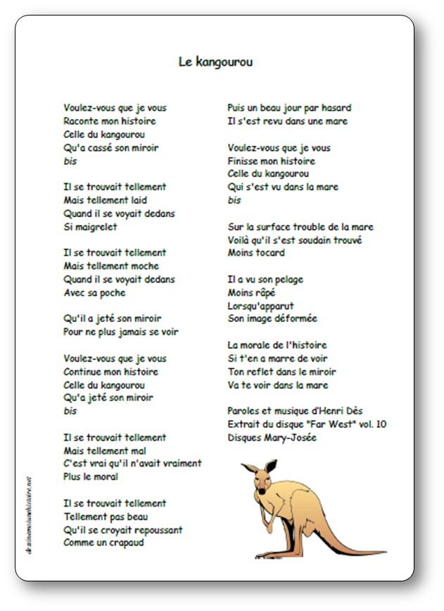 Le kangourou d'Henri Dès