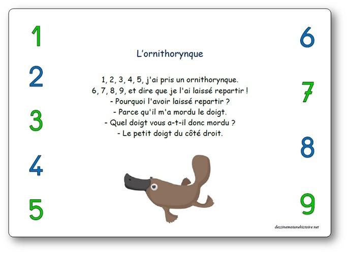 Comptine L'ornithorynque