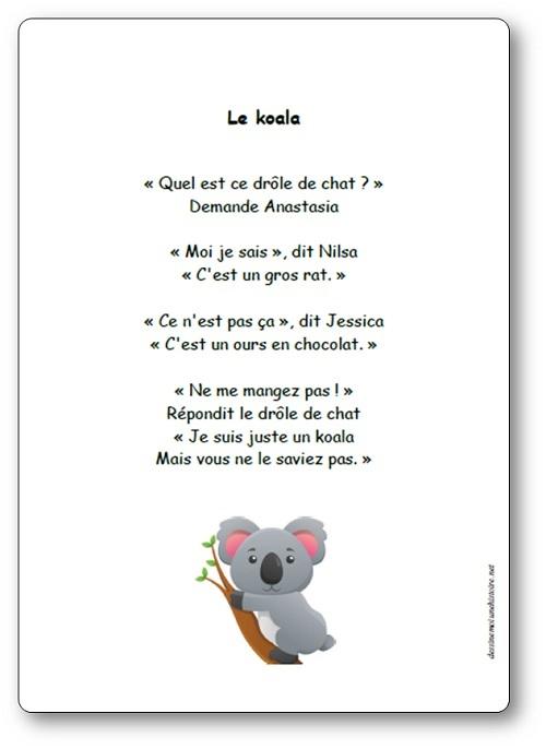 Comptine Le koala