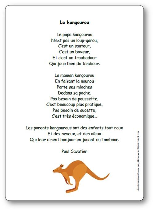 Poésie Le kangourou