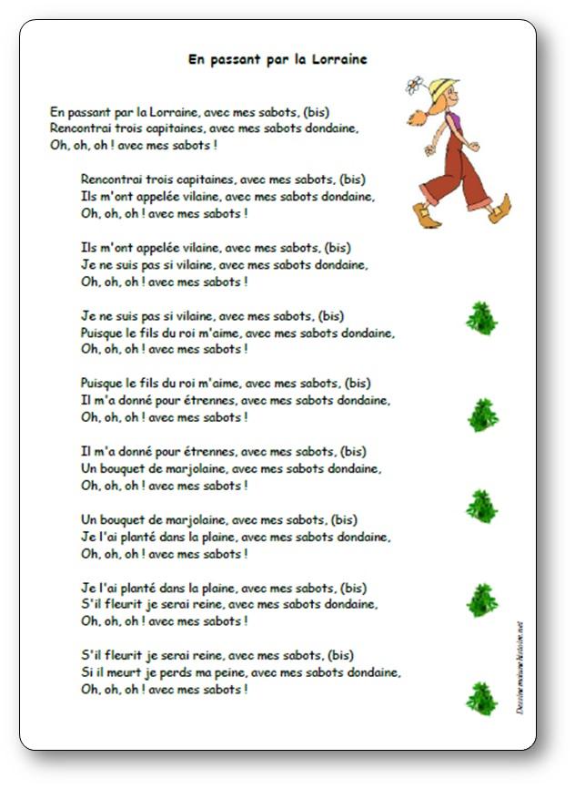 """Chanson """"En Passant Par La Lorraine"""""""